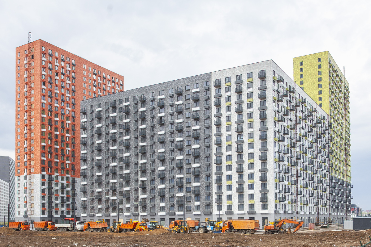 Саларьево парк. Ход строительства корпуса 18.2 на начало мая 2020 г.