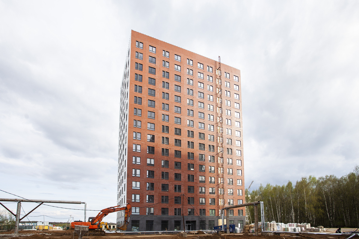 Саларьево парк. Ход строительства корпуса 25 на начало мая 2020 г.