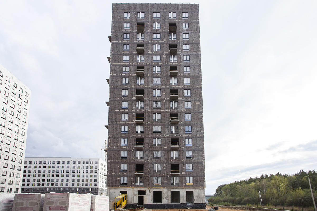 Саларьево парк. Ход строительства корпуса 28 на начало мая 2020 г.