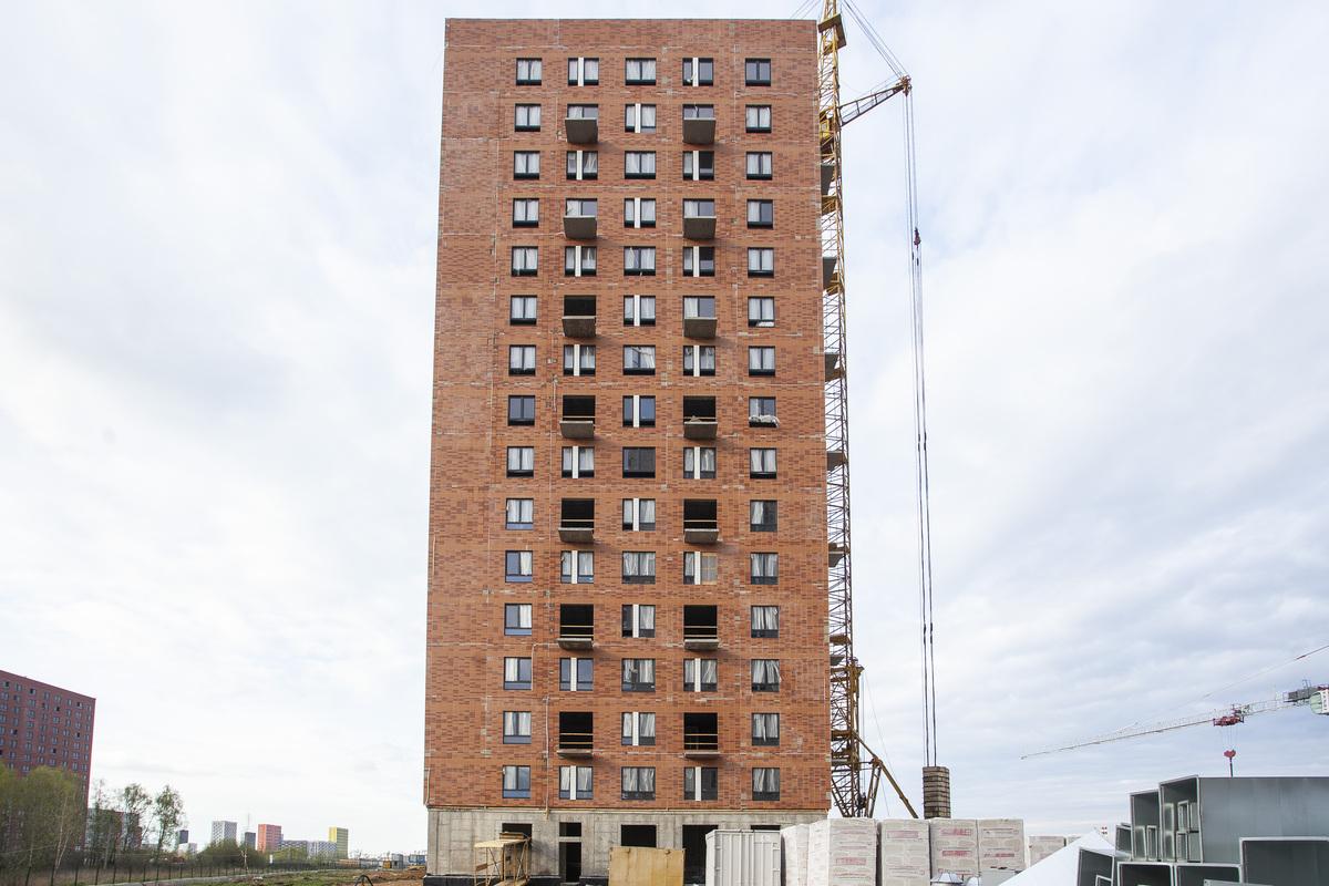 Саларьево парк. Ход строительства корпуса 33 на начало мая 2020 г.