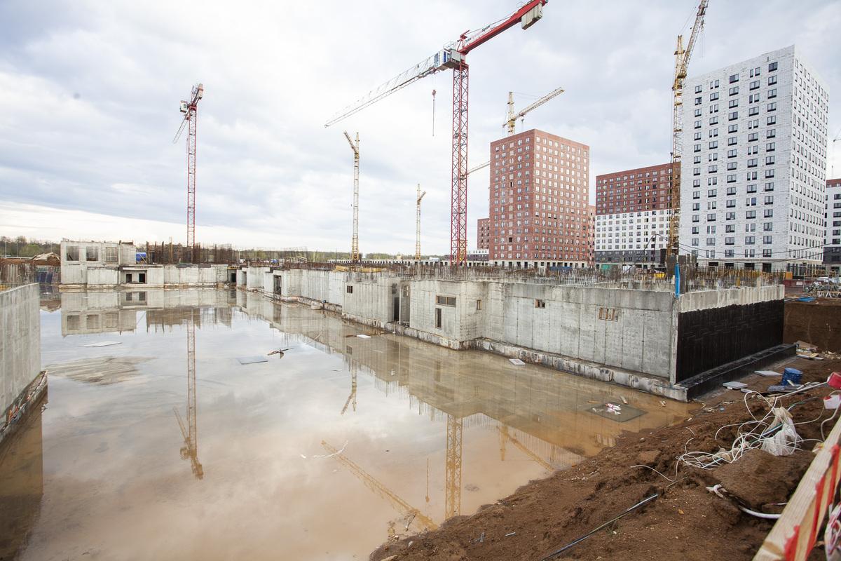 Саларьево парк. Ход строительства корпуса 34 на начало мая 2020 г.