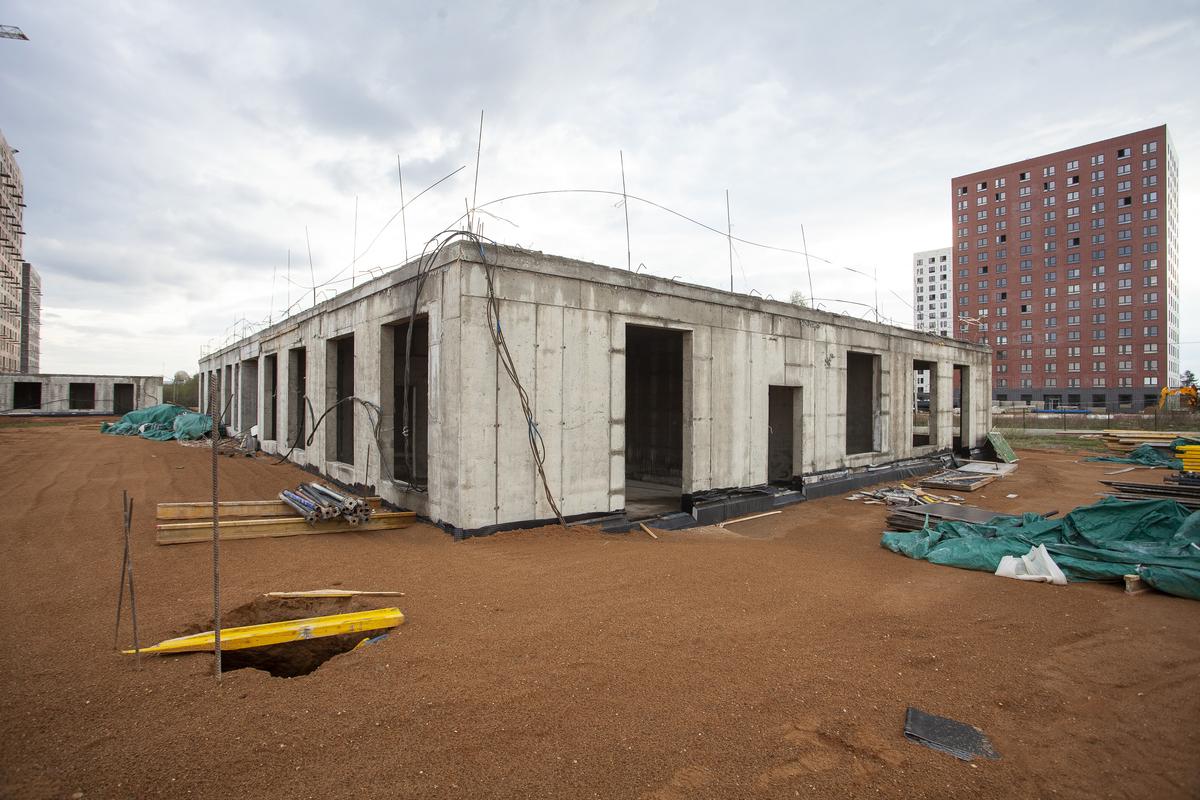 Саларьево парк. Ход строительства корпуса 36 на начало мая 2020 г.