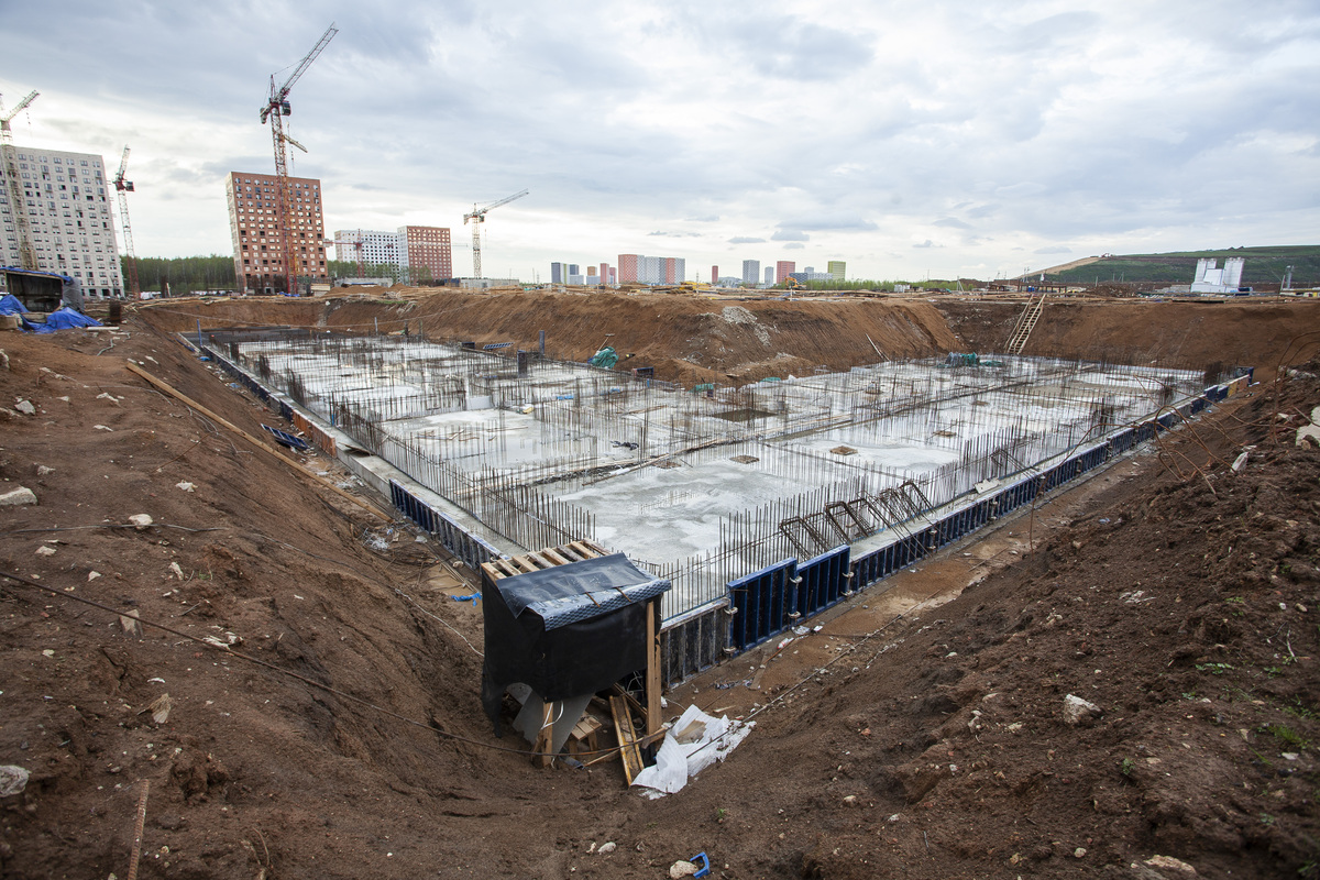 Саларьево парк. Ход строительства корпуса 43 на начало мая 2020 г.