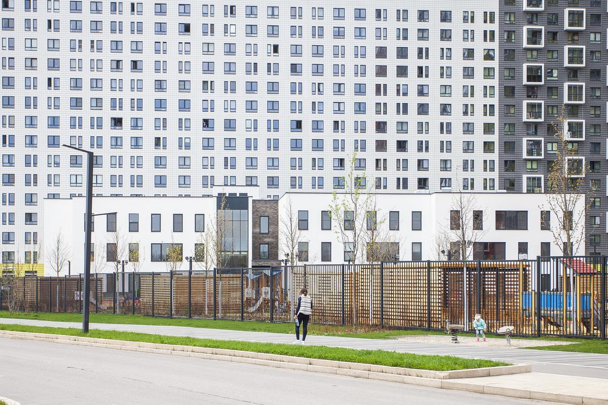 Саларьево парк. Ход строительства детского сада 1 на начало мая 2020 г.