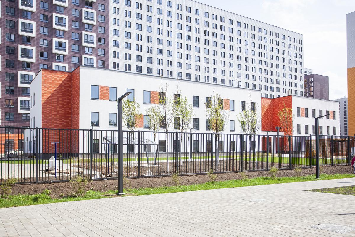 Саларьево парк. Ход строительства детского сада 2 на начало мая 2020 г.